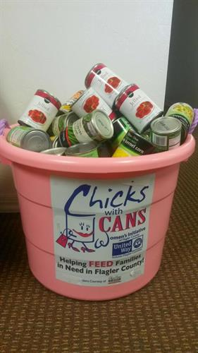 "Women's Initiative ""Chicks with Cans"" food drive"