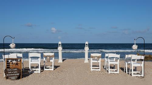 Marineland Beach Wedding Setup