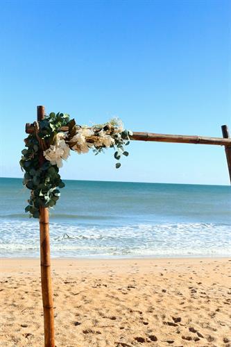 Flagler Beach Wedding Arch