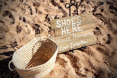 Flagler Beach Wedding Shoe Basket