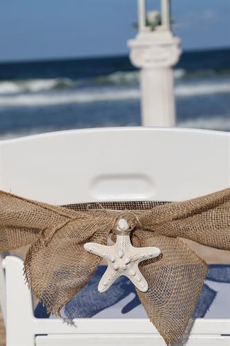 Starfish Chair Beach Wedding