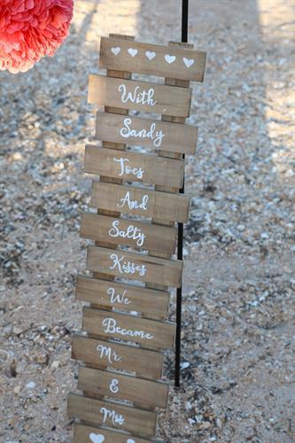 Flagler Beach Wedding Sign