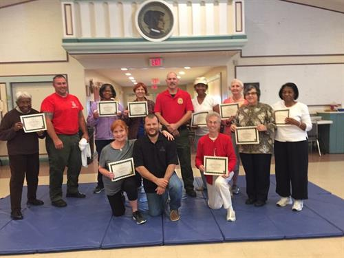 Ken volunteering for the Flagler County Sherriff's Office self defense class