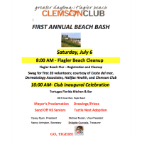 Greater Daytona/Flagler Beach Clemson Club's 1st Annual Beach Bash ~ Flagler Beach Clean Up