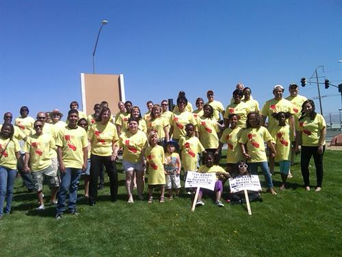 Victor Valley College Hands Across California Fundraiser with Staff