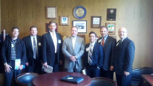 Legislator visit in Sacramento discussing housing