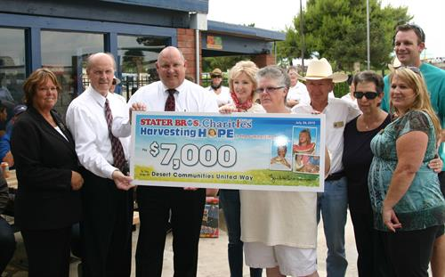 Thank You Stater Brothers for Your Donation