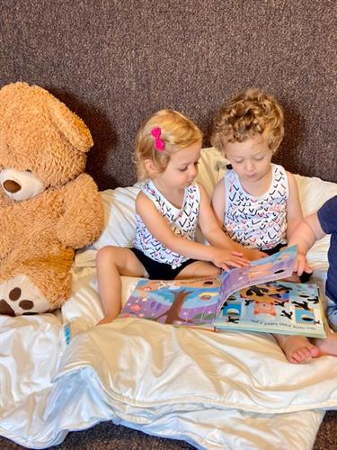 A peaceful morning spent reading with friends