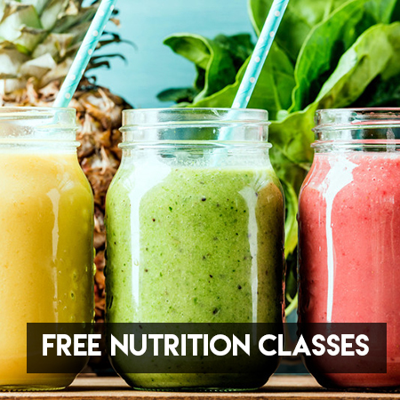 Free Nutrition 101 Class the First Monday of Every Month at 11am or 6:30pm.
