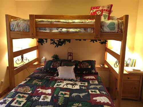 Bunk room on main floor