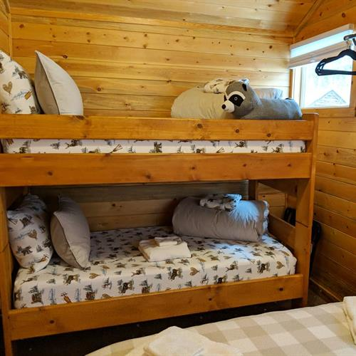Wilderness Cabin bedroom