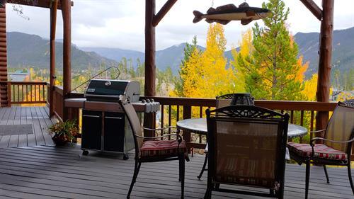 Gather on the veranda outside the kitchen