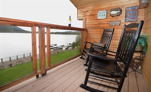 Western Riviera Lake House Balcony overlooking Grand Lake
