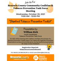 The Brazoria County Community Coalition and Tobacco Prevention Task Force meeting