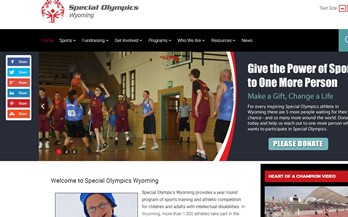 Special Olympics Wyoming Website
