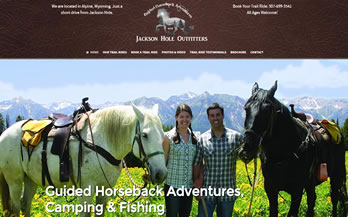 Jackson Hole Trail Rides Website