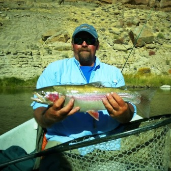 Head Guide Vince Hytrek with a great rainbow