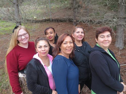 From left to right: Calah, Ana. Fabiola, Rosa, Erendira, and Monica