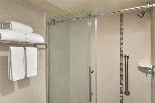 Our Executive Suites Feature a Walk-in Shower