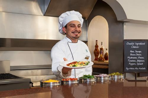 Our Chef will Prepare you a Customized Omelet