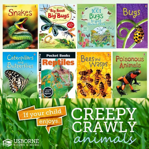 Love Creepy Crawlys?  Here are just some of our books on all things creepy and crawly!