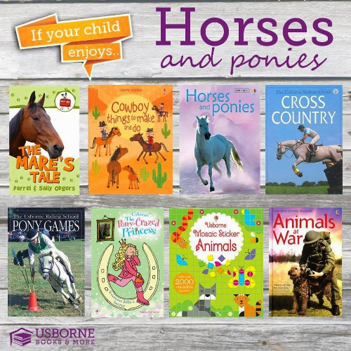 Do you love horses?  Here are just some of our books on horses!