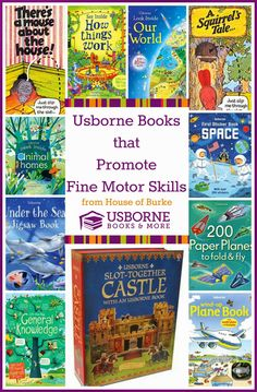 Books to help your child master fine motor skills.  If you want to purchase any of these books go to www.ReadTogetherEveryDay.com