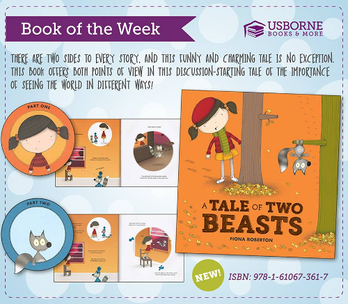 Want to teach your children that there are two sides to every story?  A Tale of Two Beasts is a great two in one book, one book for each side of the story.  This is a very cute book about a little girl that saves a squirrel,and about a squirrel that is kidnapped by a beast.