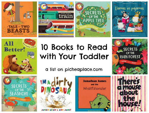 10 must read books you should read to your toddler.  For more information on any of these amazing titles go to www.ReadTogetherEveryDay.com