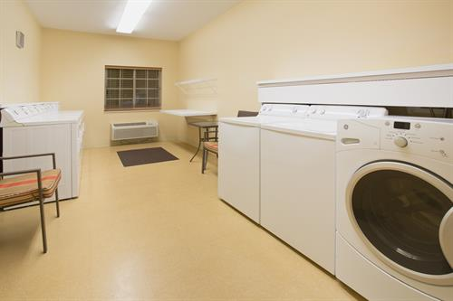 24-Hour Laundry Facility On-Site