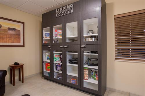 Lending Locker with Games, Specialty Cookware and Movies