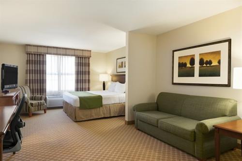 Spacious suites and floorplans