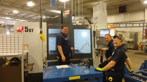 Team Members Training on new VF-5XT Machines for CIB Production.
