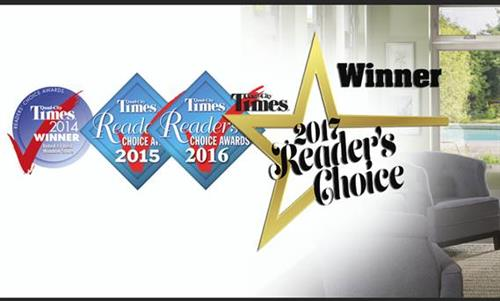 We are proud to say Window World has won the Quad City Times Readers' Choice Award for 4 years in a row!