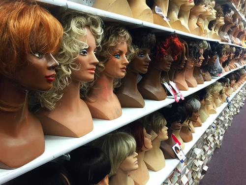We started in wigs and have hundreds for beauty and costuming needs.
