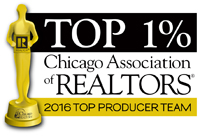 Top 1% 2016 - Chicago Association of Realtors