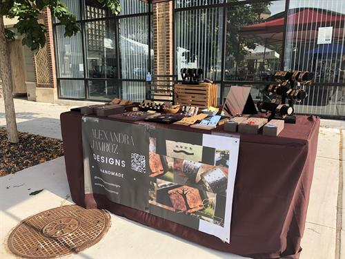 Table set up at the Northcenter Farmers Market