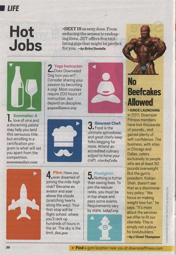 Downsize Fitness lands huge placement in Jet Magazine. Downsize Fitness is a gym for people 50+ pounds overweight.