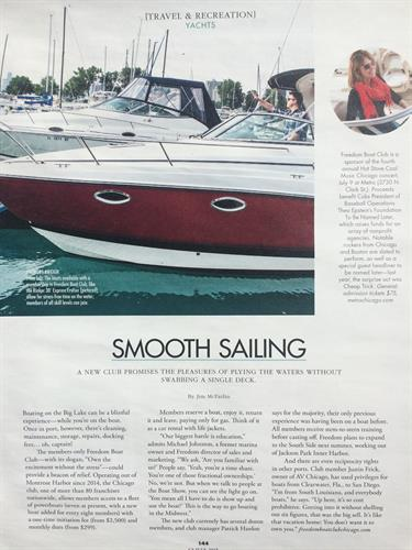 Freedom Boat Club Chicago shines in this issue of CS Magazine