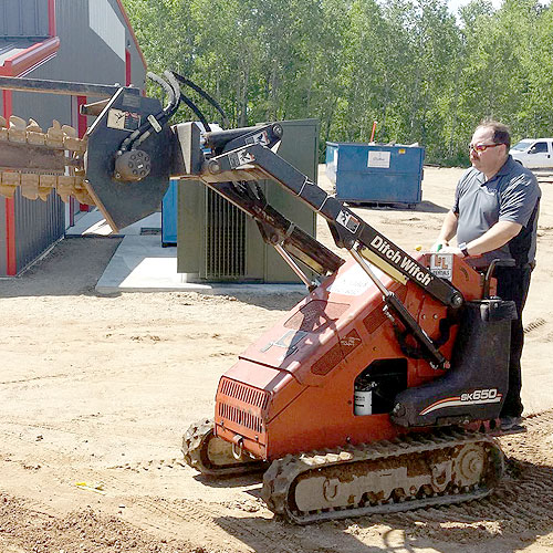 Trenching for a client? Robot wars? You decide.