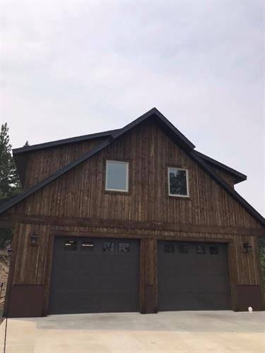 Garage we did for a client in Montana.
