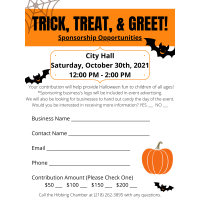 TRICK, TREAT AND GREET!