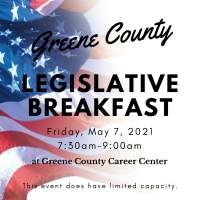 WAIT LIST: Greene County Chamber of Commerce Legislative Breakfast 2021