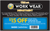 Shoe Carnival Work Wear Coupon