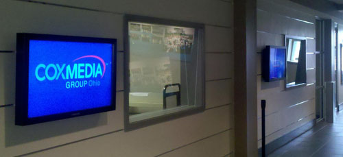 Digital Signage at the Cox Media Center in Dayton Ohio