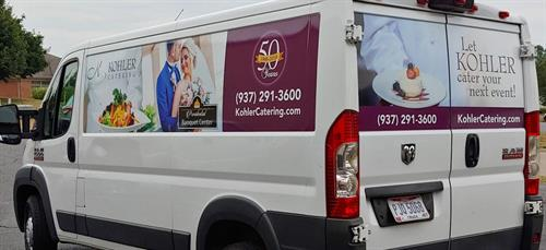 Kohler Catering delivery van graphics
