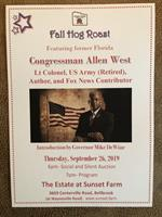GC Republican Party Hog Roast w/Lt Col Allen West
