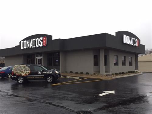 New Beavercreek Donatos located at 3197 Rodenbeck Dr. at Dayton-Xenia Rd. across from the Kroger Gas Station