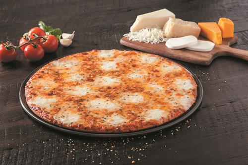 Try our NEW Ultimate 5 Cheese Pizza!  Large on sale right now for only $14.99