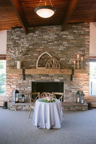 Renovated Indoor Reception Fireplace